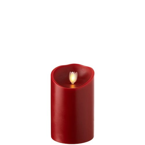Wax Pillar Flameless Candle with Timer Red 3.5