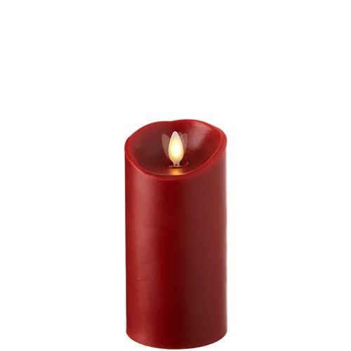 Wax Pillar Fireless Candle With Timer Red 3