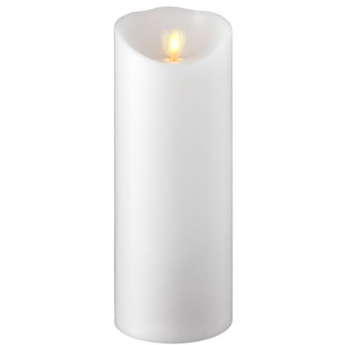 Wax Pillar Flameless Candle with Timer White 3.5