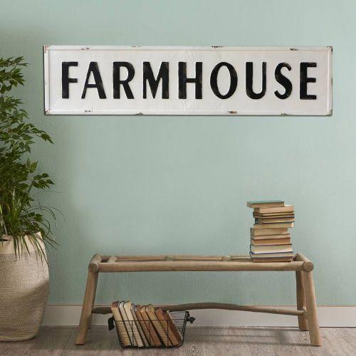 """Farmhouse"" Metal Sign"