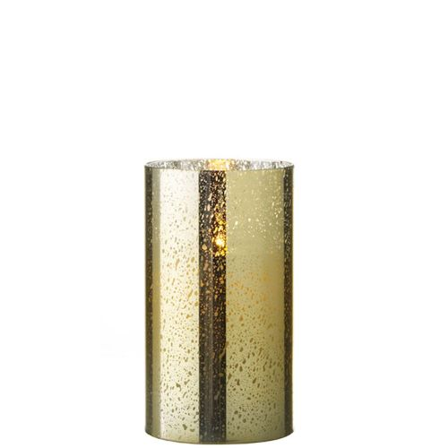 Mercury Glass Fireless Candle (Gold) 3.5