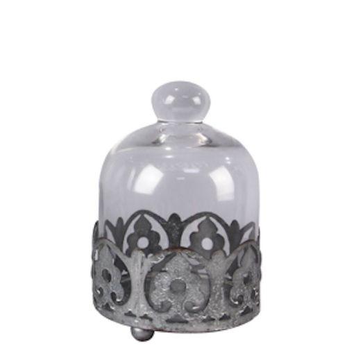 Cloche Glass W/Laser Cut Pedestal SMALL
