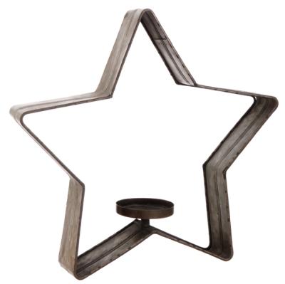 Galvanized Metal Star Large