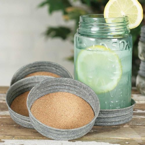 Mason Jar Lid Coaster Cork