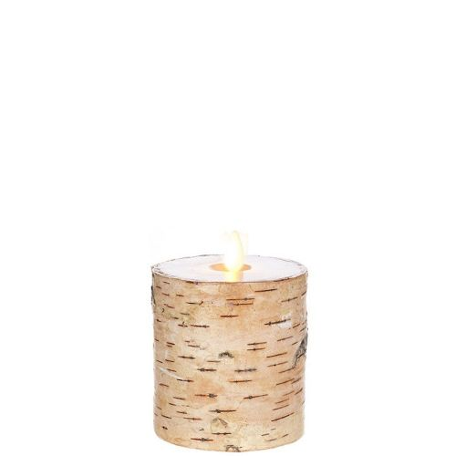 Wax Pillar Flameless Candle Birch 3.25