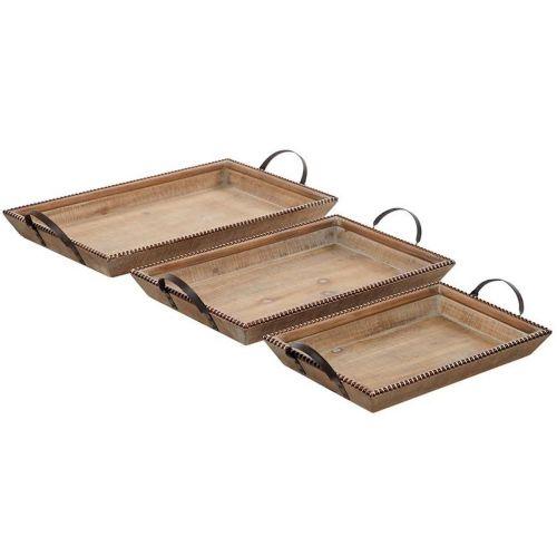 Tray Wood W/ Beaded Trim | 3 Sizes