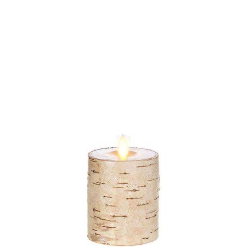 Wax Pillar Flameless Candle Birch 3.25
