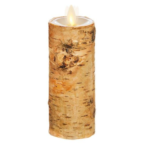 Wax Pillar Flameless Candle Birch 2