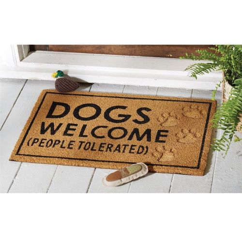 Pet Doormat Dogs Welcome People Tolerated