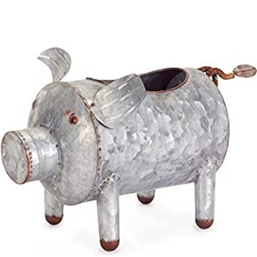 Galvanized Pig Container/Planter (Large)
