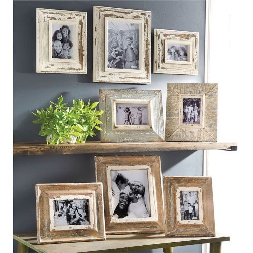 Frame Distressed Natural Wood | Small