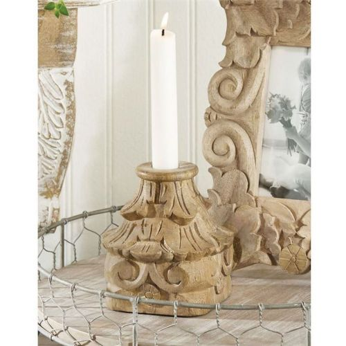 Wood Taper Candle Holder
