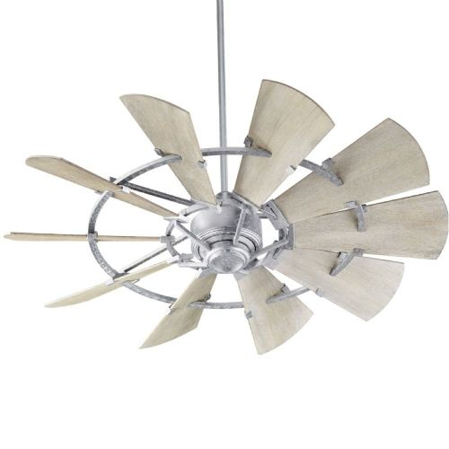 "Windmill 52"" Ceiling Fan Galvanized Finish (Indoor)"