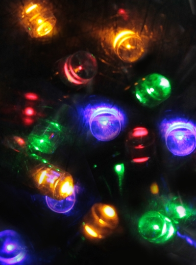 Battery Operated LED Light String 24' 96 Multi-Colored Lights