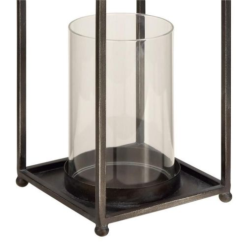 Lantern Open Metal W/Glass Globe