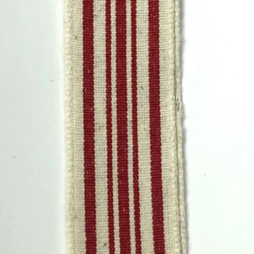 Ivory/Red Striped 1.5