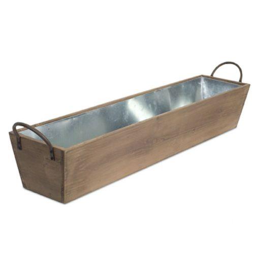 Tray Metal/Wood Large