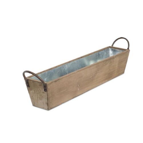 Tray Metal/Wood Small