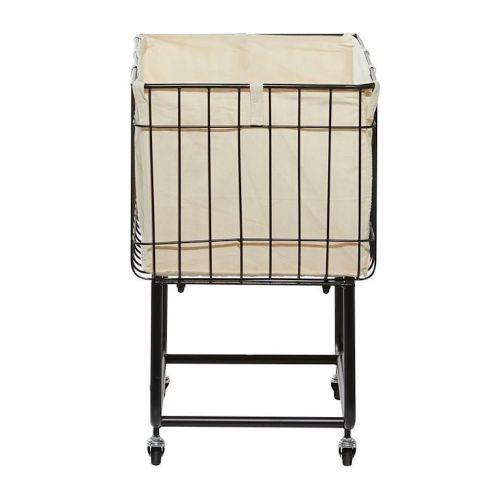 Metal Fabric Storage Cart/Laundry Basket