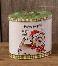 Dog Canister-Dogs Leave Paw Prints On Your Heart