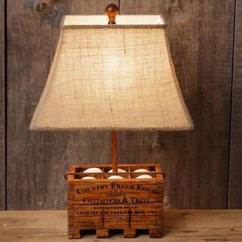 LA Vintage Country Fresh Eggs Lamp