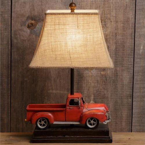 LA Vintage Red Truck Lamp