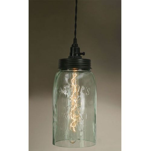 Big Mason Jar Pendant Lamp
