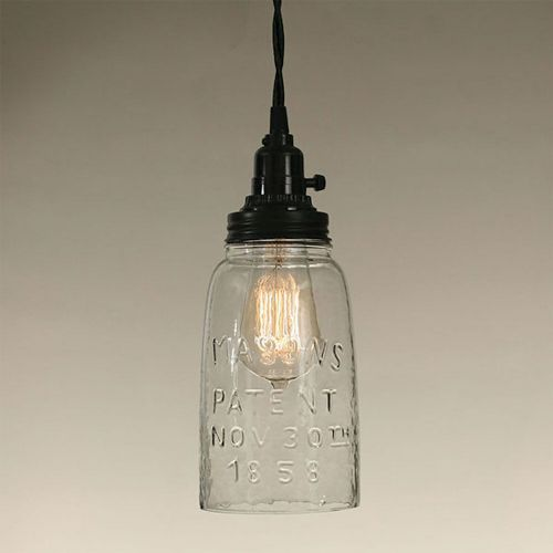 Half Gallon Mason Jar Pendant Lamp