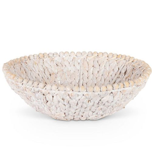 T-Bowl (Water Hyacinth W/Bead Trim Fruit Bowl)