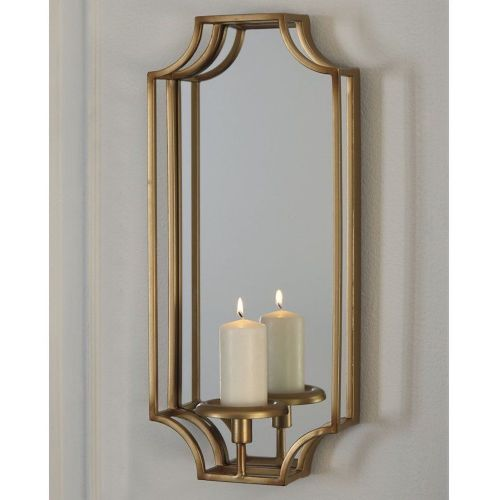 Gold Mirror Wall Sconce