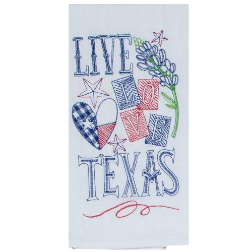 KT Live Love Texas Tea Towel