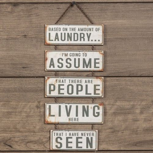 Based On The Amount Of Laundry | Metal Sign