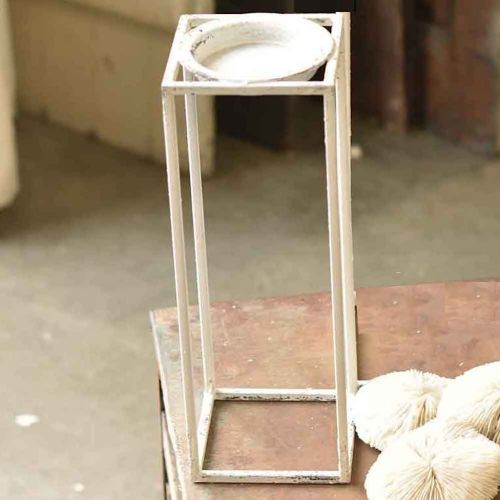 Chippy Farmhouse Rectangle Candle Holder (Small)