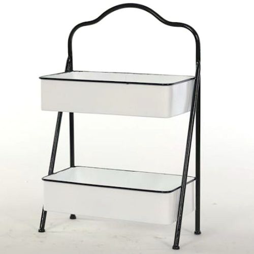 Tray Metal Enamel 2-Tier Tray