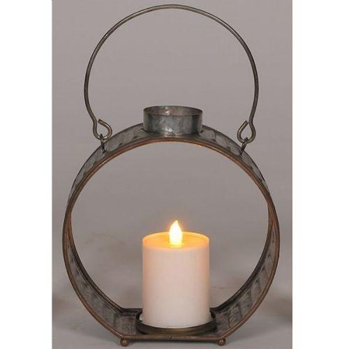 Lantern Galvanized Round