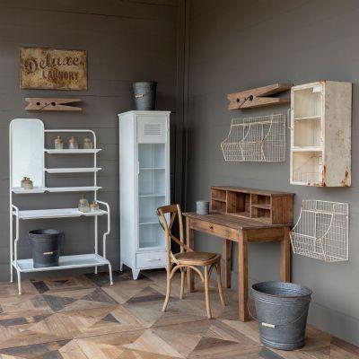 "Wood Clothespin Wall Shelf 24"""