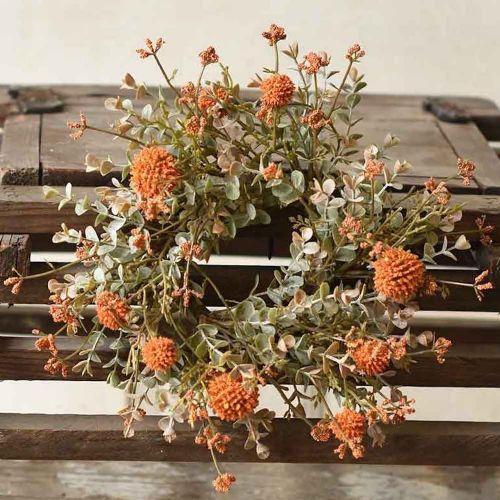 Candle Ring Farmhouse Fall   Pumpkin 3
