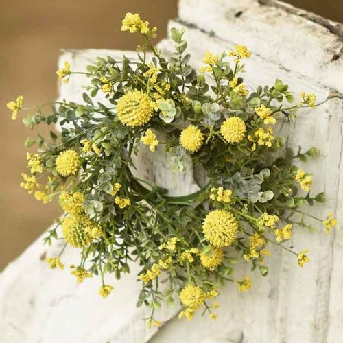 Candle Ring Garden Bliss | Yellow 3