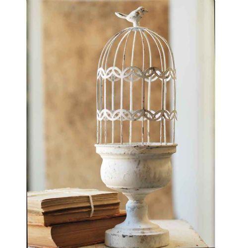 Chippy White Wire Birdcage 17