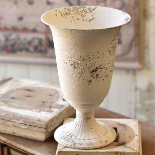 Chippy Farmhouse Creamy White Vase 13