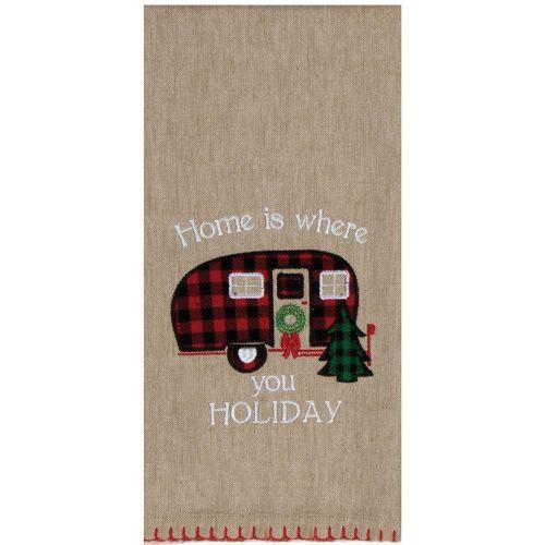 Holiday Camper Tea Towel
