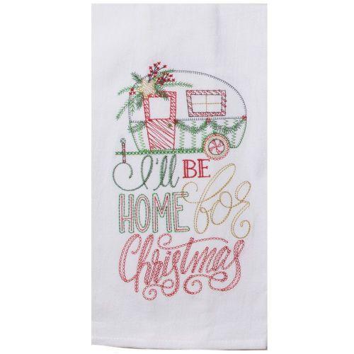 Home For Christmas Tea Towel