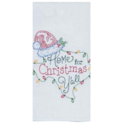 Home Y'all Embroidered Tea Towel
