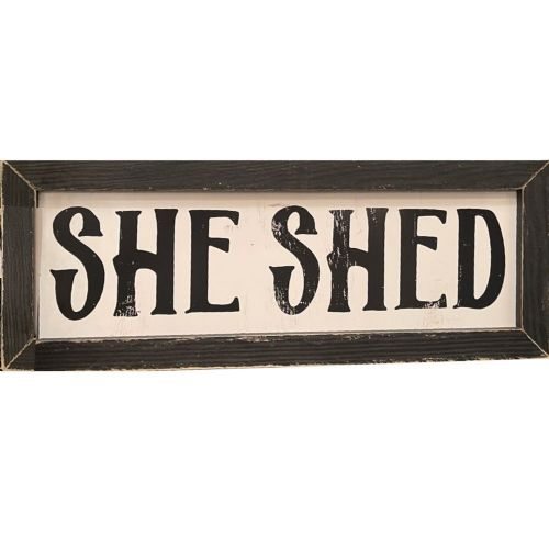 """She Shed"" Wood Sign"