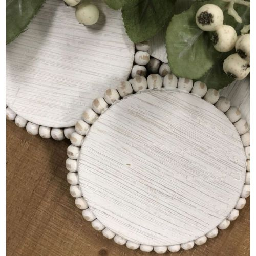 Beaded Wood Coaster