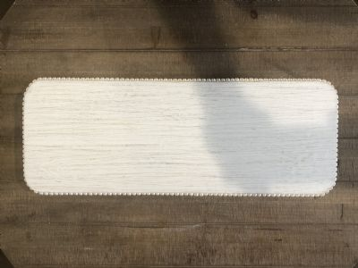 Tray/Riser (Rectangle White Washed W/Bead Trim