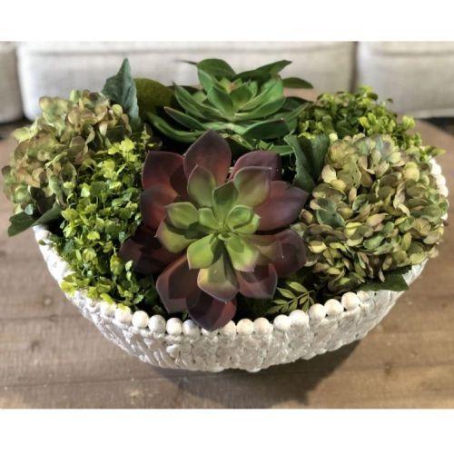 T-Basket (Water Hyacinth W/Bead Trim Basket)