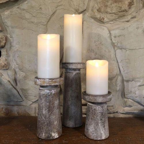 Candle Holders Set/3 Wood