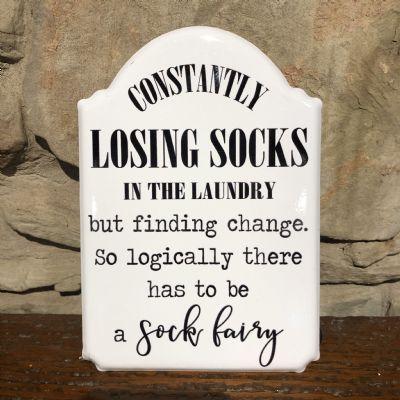 """Losing Socks"" Sign"