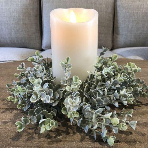 "Candle Ring Spiral Eucalyptus 3"" Opening"